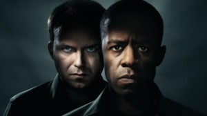 Adrian Lester as Othello and Rory Kinnear as Iago