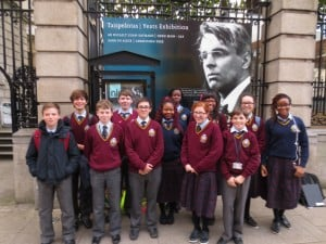 Students from Franciscan College Gormanston at the National Library of Ireland for Poetry Aloud