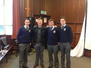 Cillian, Nick, Michael with Eamonn Owens
