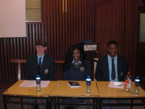 Adam, Christabel and Bobby for the opposition